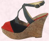 Shoe 3 - Faith Footwear - Style 'Holdin' Wedge in red/black/grey/cork - �55.